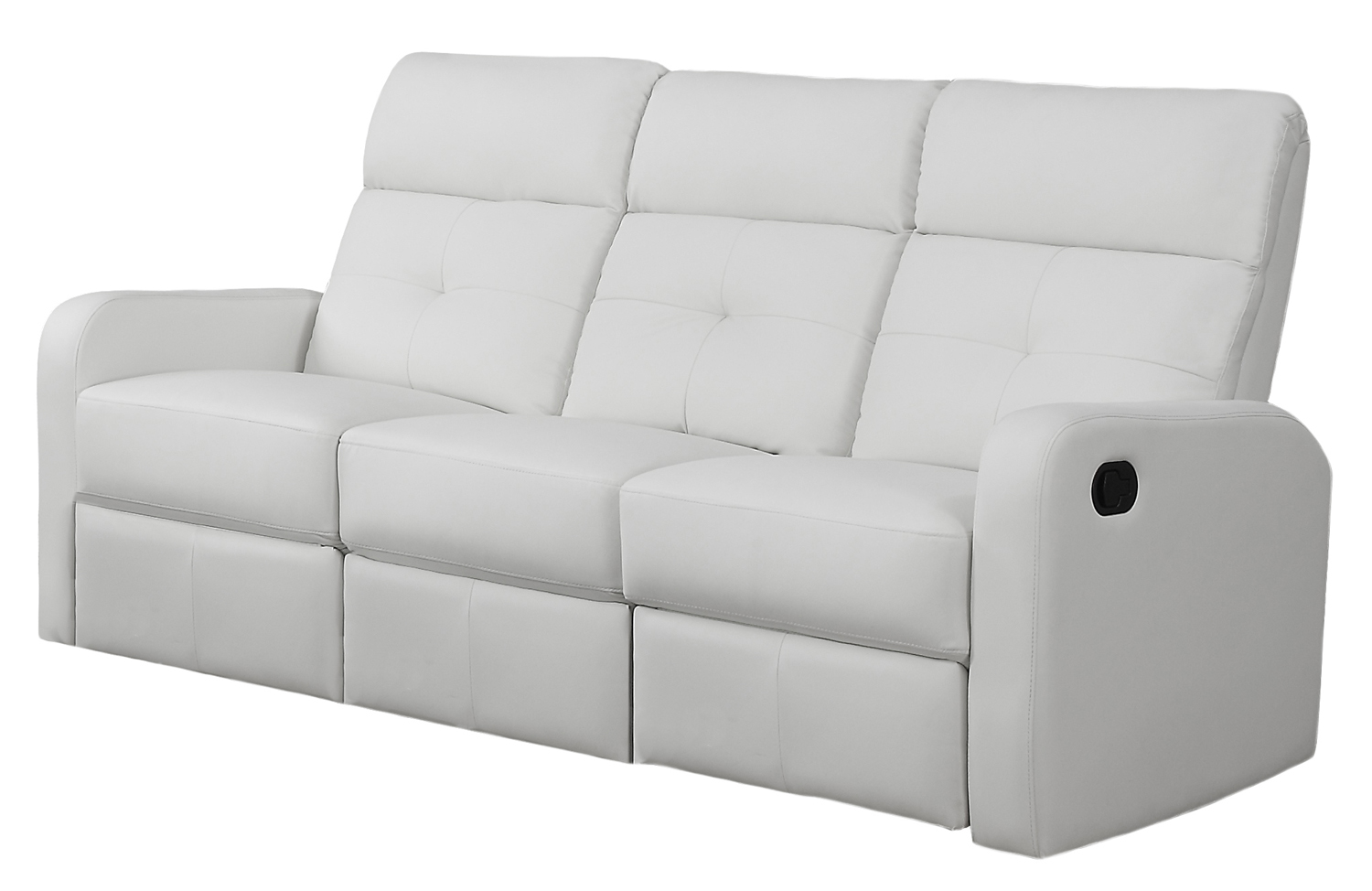 Reclining - Sofa White Bonded Leather