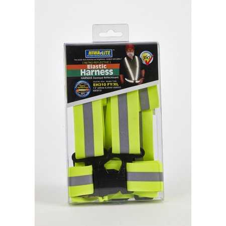 Reflective Elastic Adjustable Harness/Suspender, 50 in. Length x 1-1/2 in. Width, Lime