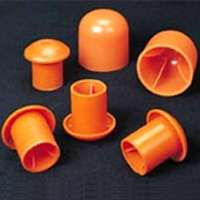 "Rebar Cap, Large, for #9-#16 (2""), Orange (Pack of 100)"