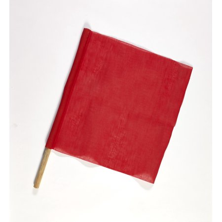 Cloth Signal Traffic Warning Flag, Red, 18 in. x 18 in. x 36 in. (Pack of 10)