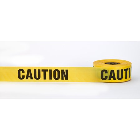 """Barricade Tape, """"Caution"""", 3 mil, 3"""" x 300', Yellow (Pack of 16)"""