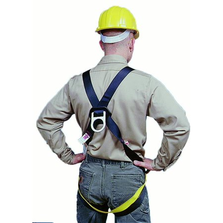 Full Body D-Ring Safety Harness, 6000 lbs Minimum Tensile Strength