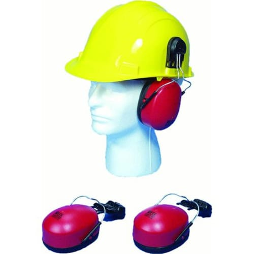 Hard Hat Mounted Ear Muffs, SNR 23db and NRR 22db