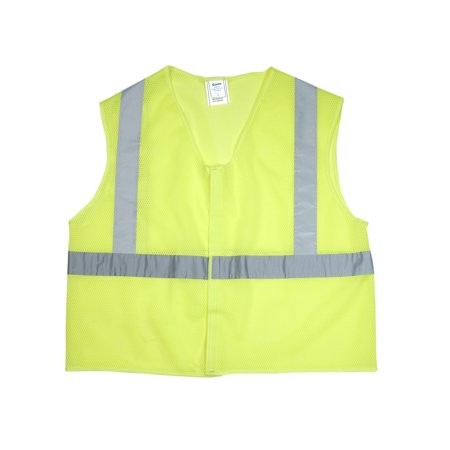 ANSI Class 2 Non Durable Flame Retardant Vest, Mesh, Lime -Medium