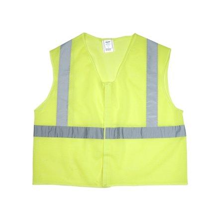 ANSI Class 2 Non Durable Flame Retardant Vest, Mesh, Lime -Large