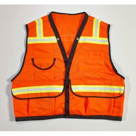 ANSI Class 2 Non Durable Flame Retardant Vest, Mesh, Orange -Medium