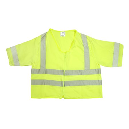 ANSI Class 3 Durable Flame Retardant Vest, Solid, Lime, Large