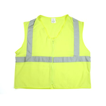 ANSI Class 2 Durable Flame Retardant Vest, Solid, Lime, Medium
