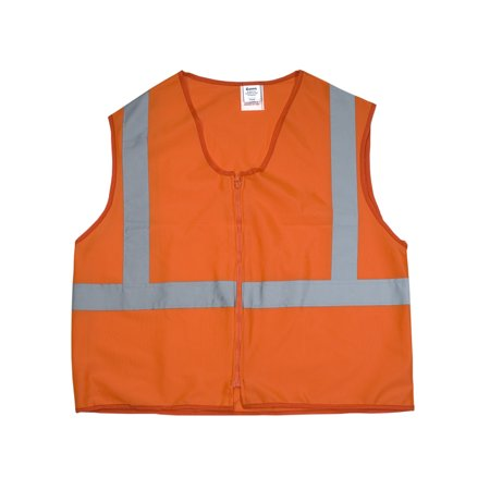 ANSI Class 2 Durable Flame Retardant Vest, Solid, Orange, Large
