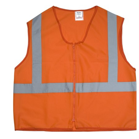 ANSI Class 2 Durable Flame Retardant Vest, Solid, Orange, 4XLarge