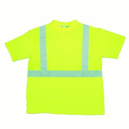 ANSI Class 2 Durable Flame Retardant T-Shirt, Lime, 4XLarge