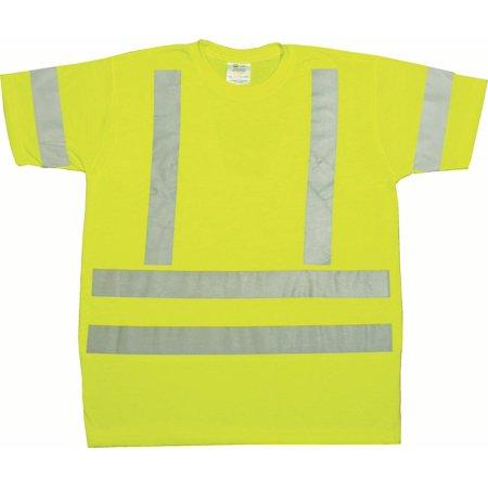 ANSI Class 3 Durable Flame Retardant T-Shirt, Lime, Medium