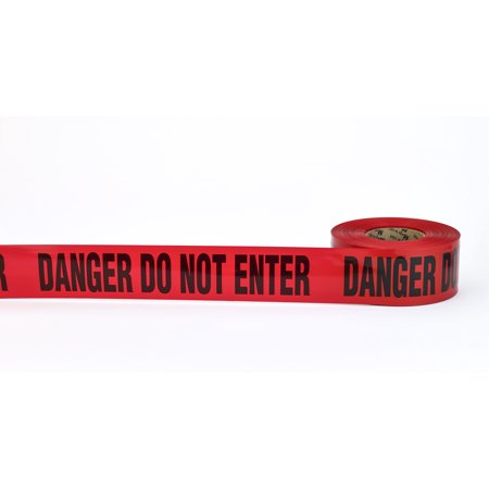 "3Mil Barricade Tape, ""Do Not Enter"", 3"" x 1000', Red (Pack of 10)"