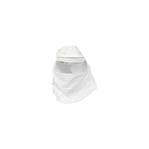Cotton Painter's Dust Hood with Large Clear Plastic Insert, 12 in. Length, White