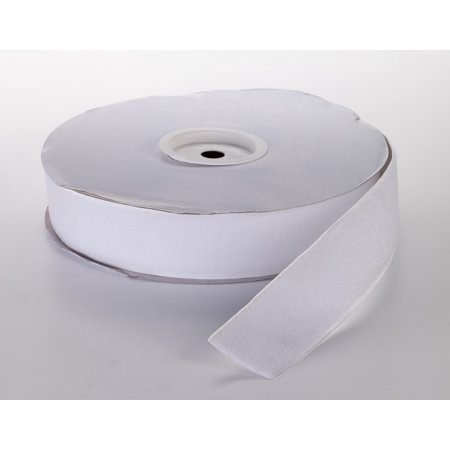 """Pressure Sensitive Loop Fastening Tape Roll, 25 yds Length x 1-1/2"""" Width, White"""