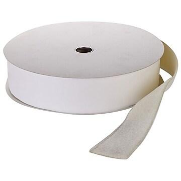 """Pressure Sensitive Loop Fastening Tape Roll, 25 yds Length x 2"""" Width, White"""
