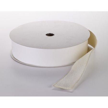 """Pressure Sensitive Loop Fastening Tape Roll, 25 yds Length x 4"""" Width, White"""