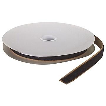 """Pressure Sensitive Loop Fastening Tape Roll, 25 yds Length x 3/4"""" Width, Black"""