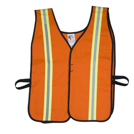 High Visibility Cotton ASTM 1506 Flame Retardant Welders Safety Vest with Hook and Loop Closure, 2X-Large, Orange
