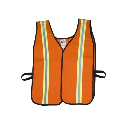 High Visibility Cotton ASTM 1506 Flame Retardant Welders Safety Vest with Hook and Loop Closure, 4X-Large, Orange