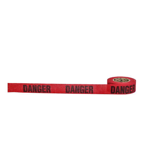 """Danger"" Biodegradable Barricade Tape, 3"" x 500', Red"