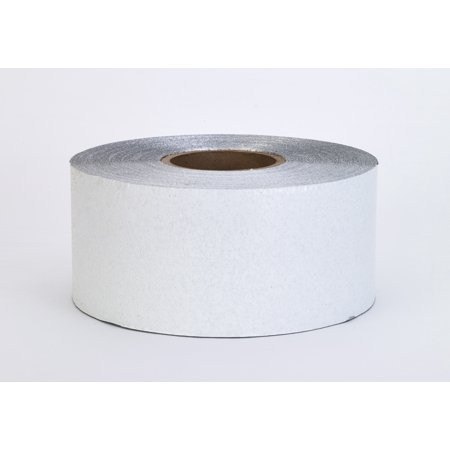 "Construction Grade Foil Backed Pavement Marking Adhesive Tape, 100 yds Length x 4"" Width, White"