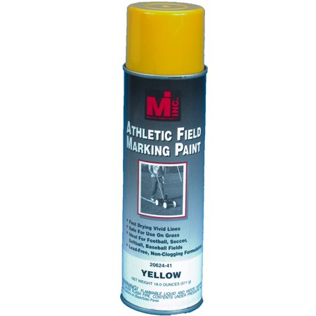 Athletic Field Striping Paint, Yellow, 20 oz.