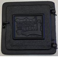 "Mutual Industries 26-004 Cast Iron Clean Out Door, 12"" x 8"""