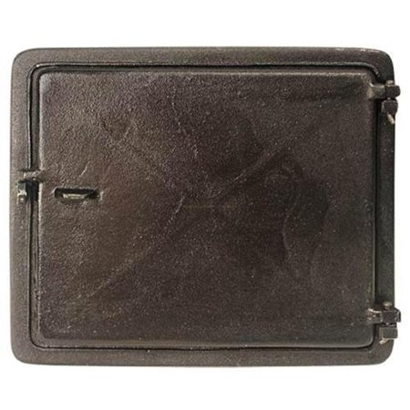 "Mutual Industries 26-005 Cast Iron Clean Out Door, 12"" x 10"""