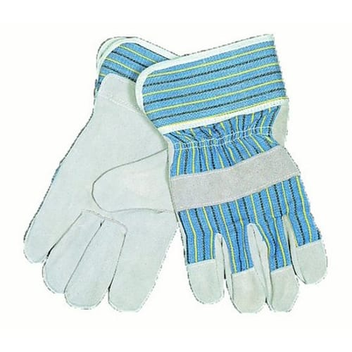 Heavy-Duty Leather Palm Work Gloves