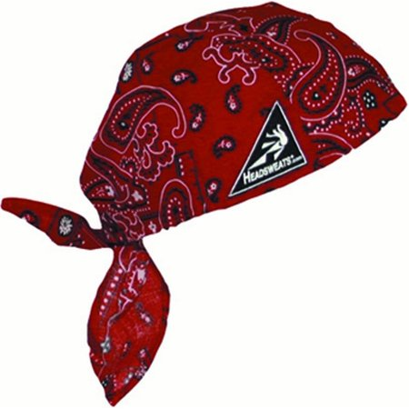 Cotton Head Wrap, Paisley Red