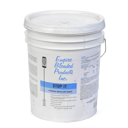 Stop-It Hydraulic Water stop cement 50 lb pail