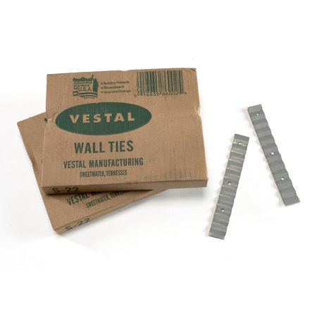 "Mutual Industries 7100-0-22 Wall Ties, 22 Gauge 7/8"" x 6 3/8"""