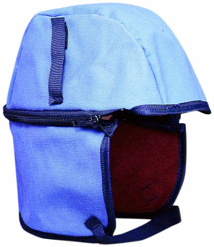 #42 Zipperhead Twill Cap Hard Hat Winter Liner with Removable Zip-Off Nape Protector, Postman Blue