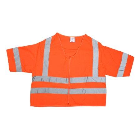 ANSI Class 3 Durable Flame Retardant Vest, Solid, Orange, Large