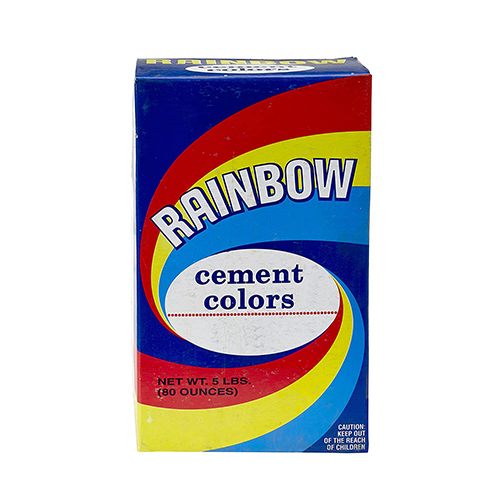 Mutual Industries 9010-0-5 Rainbow Cement Color,  5 lb., Yellow Ochre (Pack of 50)