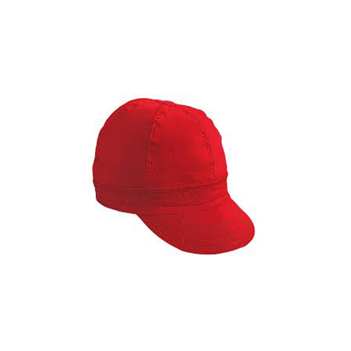 "Kromer Red Twill Style Welder Cap 7 3/ 8, Cotton, Length 5"", Width 6"""