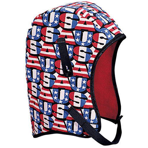 WL4-210 Kromer High Quality Hard Hat Winter Liner with USA Long Nape, Red/White/Blue