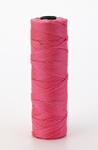 Nylon Mason Twine, 1/4 lb. Twisted, 18 x 275 ft., Glo Pink (Pack of 6)