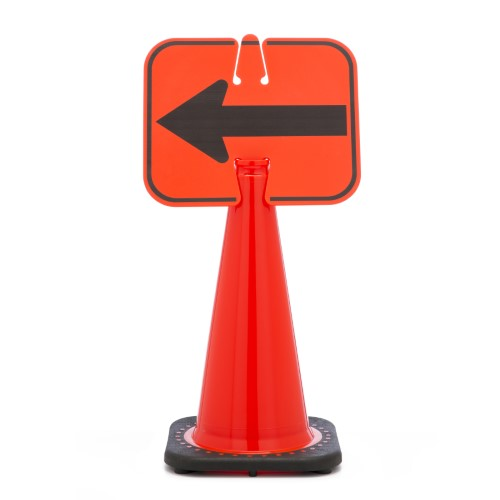 Cone Sign, Left Arrow