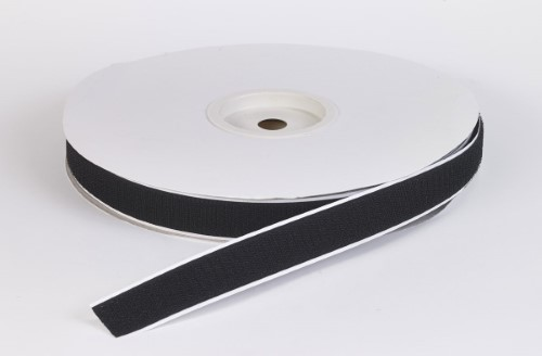 Adhesive hook tape, 1 in, 3 yds, Black