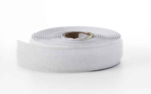 Adhesive hook tape, 3/4 in, 3 yds, White