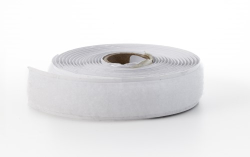 Adhesive hook tape, 1 in, 3 yds, White