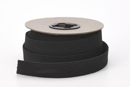 Braided elastic, .75 in Wide, 10 yds, Black