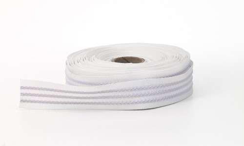 3 Strand grip tape, White, 100% elastic - 10 yards