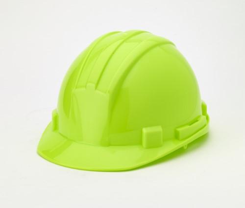 Hard Hat, 6-Point Ratchet Suspension, Hivis Lime