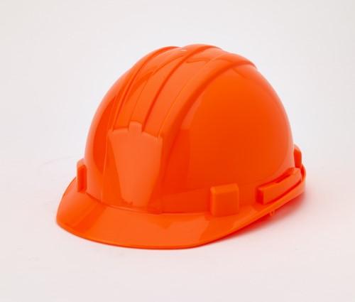 Hard Hat, 6-Point Ratchet Suspension, Hivis Orange