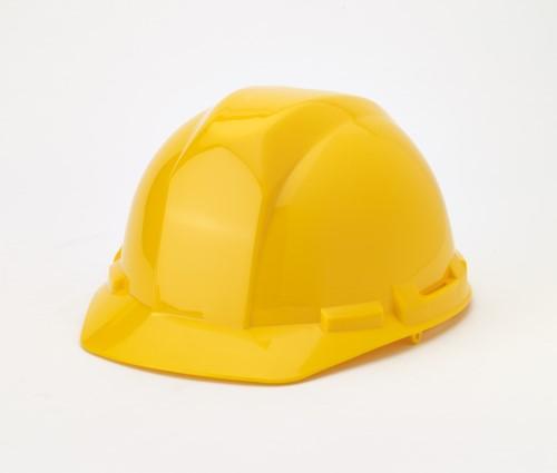 Hard Hat, 6-Point Ratchet Suspension, Yellow