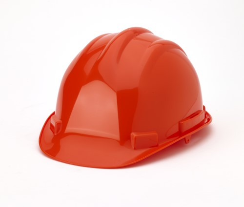 Hard Hat, 6-Point Ratchet Suspension, Orange