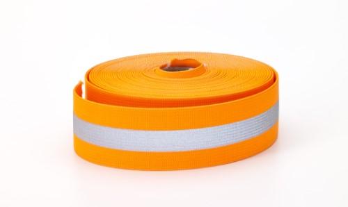 Reflective Elastic, 1.5 in Wide, 10 yds, Orange